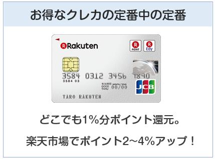 楽天カードはお得なクレジットカードの定番中の定番