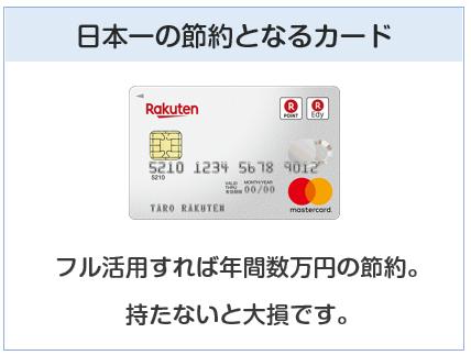 楽天カードは日本一の節約となるカード