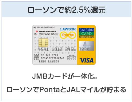 JMBローソンPontaカードはローソンで約2.5%還元