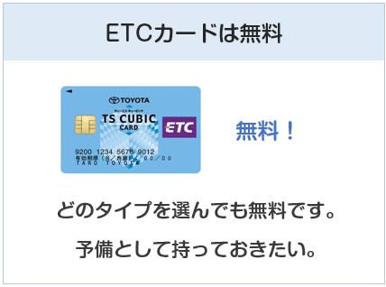 エネオスカードのETCカードは無料