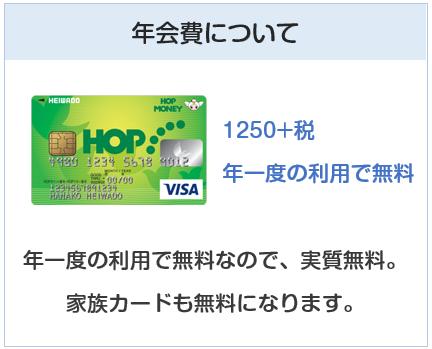 HOP VISAカードの年会費について
