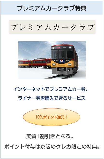 京阪カード(e-kenet VISAカードPiTaPa)はプレミアムカークラブがお得
