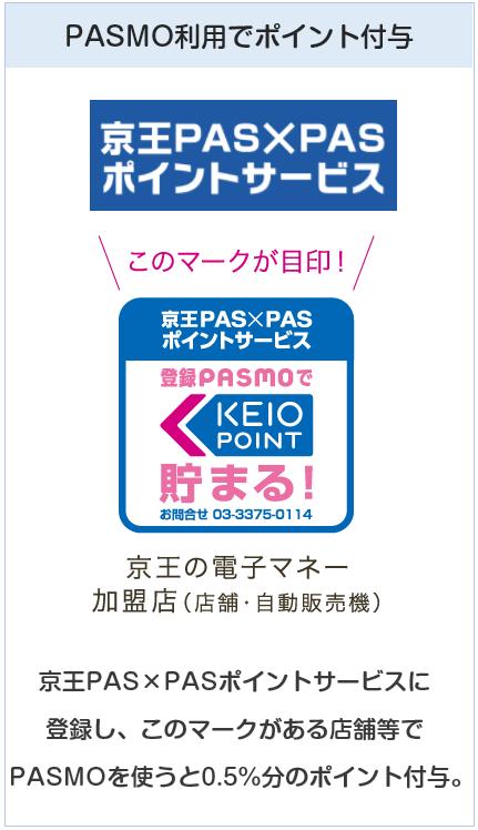 京王パスポートVISAカードはPASMO利用でもポイントが貯まる