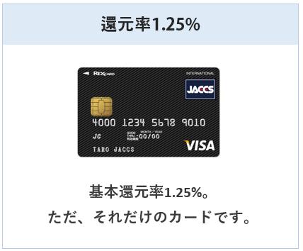 レックスカードは還元率1.25%