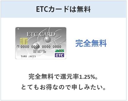 レックスカードのETCカードは無料