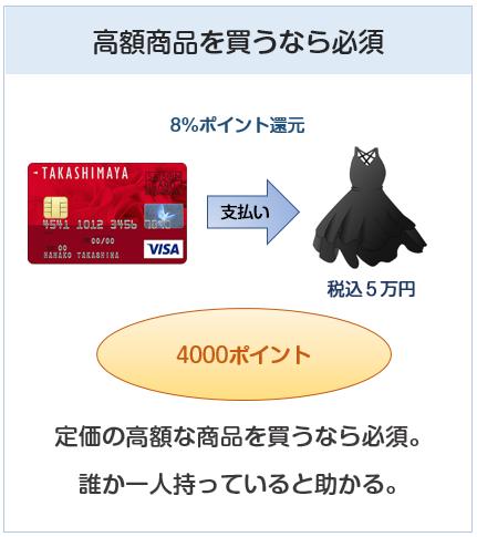 高島屋カードは高額商品を買うなら必須