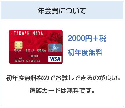 高島屋カードの年会費について
