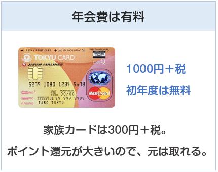 東急カードは年会費が有料