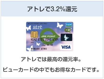 アトレビューSuicaカードはアトレで3.2%還元