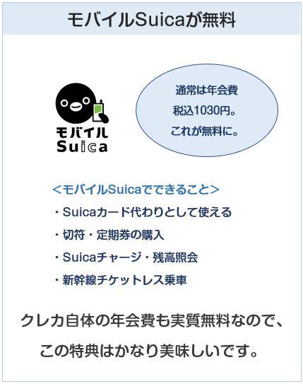 ビューカードはモバイルSuicaが無料