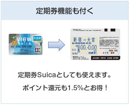 「ビュー・スイカ」カードは定期券機能も付く