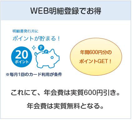 ビューカードはWEB明細登録で年会費実質無料