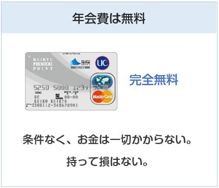 京急カード(プレミアポイントシルバー)の年会費は無料