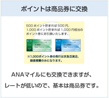 京急カード(プレミアポイントシルバー)のポイントは商品券に交換