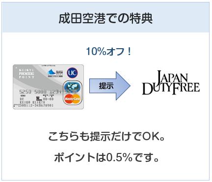 京急カード(プレミアポイントシルバー)の成田空港での特典