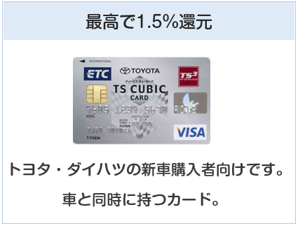 TSキュービックカードは最高で1.5%還元