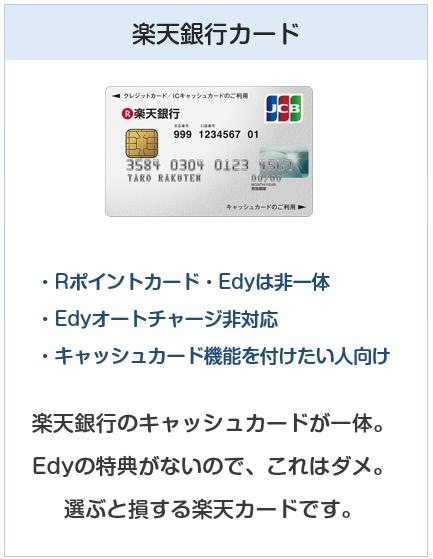 種類:楽天銀行カード