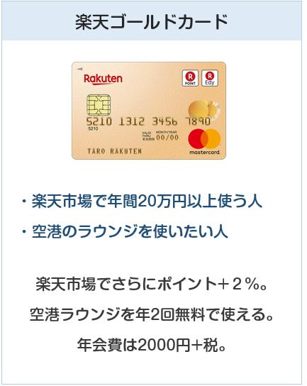 種類:楽天ゴールドカード