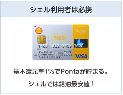 シェルPontaクレジットカードはシェル利用者は必須