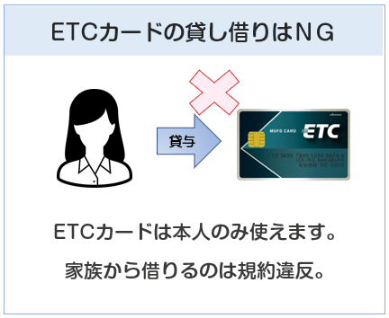 ETCカードの貸し借りは規約違反