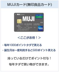 MUJIカード(無印良品カード)