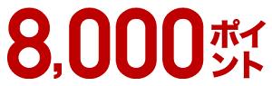 入会特典の8000ポイント