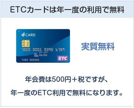 dカードのETCカードについて