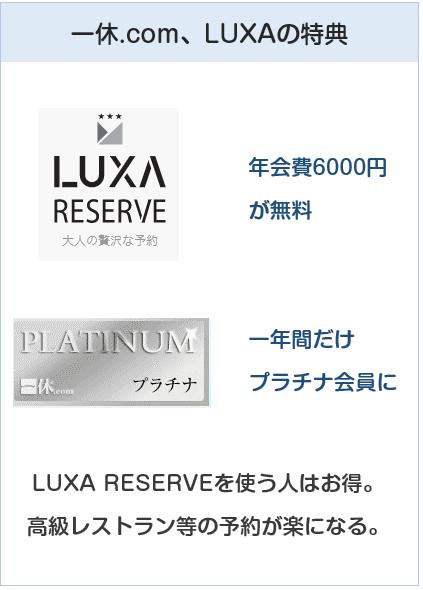 エムアイゴールドカードは一休.com。LUXAでお得