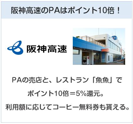 イオンTHRU WAYカードは阪神高速のPアはポイント10倍