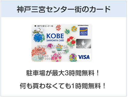 KOBE SANNOMIYAカードは神戸三宮センター街のカード