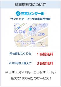 KOBE SANNOMIYAカードは産センタープラザ駐車場が対象