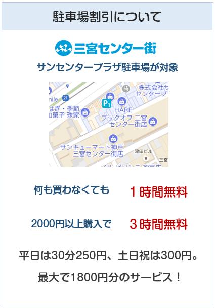 BE KOBEカード(神戸三宮カード)はサンセンタープラザ駐車場が対象