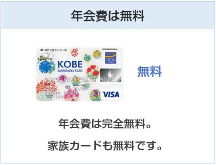 KOBE SANNOMIYAカードの年会費は無料
