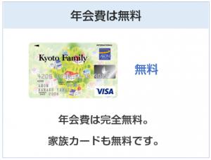 京都ファミリーカードの年会費は無料