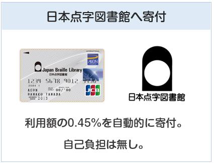 日本点字図書館カードは自動的に0.45%を寄付