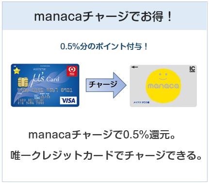 名鉄ミューズカードはmanacaチャージで0.5%ポイント還元
