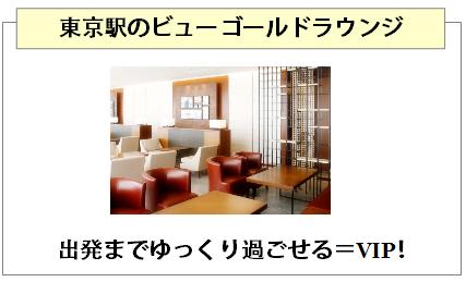 ビューゴールドプラスカードは東京駅のビューゴールドラウンジが使える