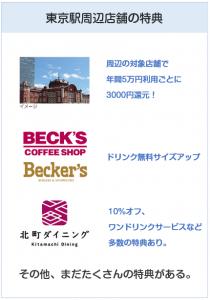 ビューゴールドプラスカードの東京駅周辺での特典について