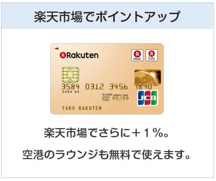 楽天ゴールドカードは楽天市場でポイントアップ