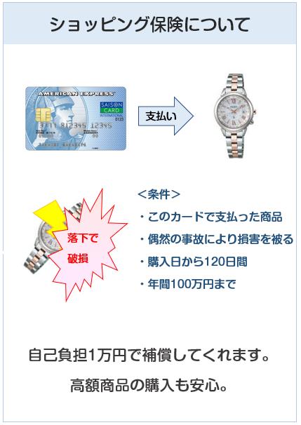 セゾン ブルー・アメリカン・エキスプレス・カードのショッピング保険