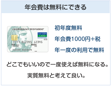 セゾン パール・アメリカン・エキスプレス・カードは年会費を無料にできるクレジットカード