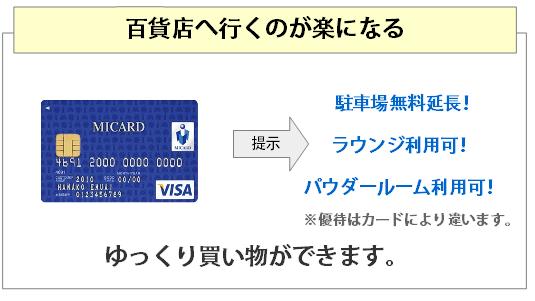 百貨店カードの主な特典2