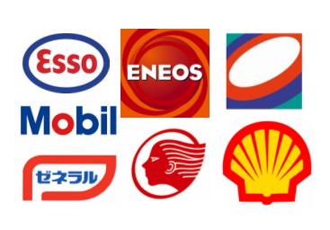 ガソリンスタンドのロゴ