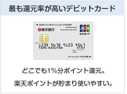 楽天デビットカードは最も還元率が高いデビットカード