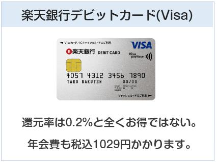 楽天デビットカード(Visa)