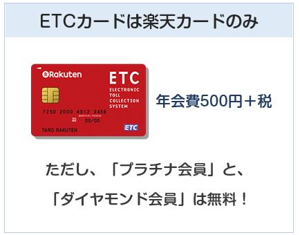 楽天銀行カードと楽天デビットカードのETCカードの違い