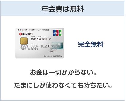 楽天銀行カードは年会費無料
