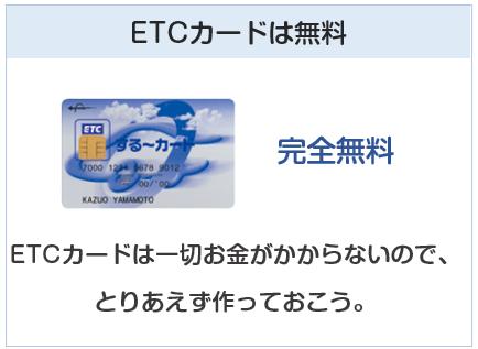 JCB CARD WのETCカードは完全無料