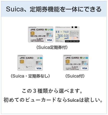 JRE CARDの種類は3種類ある