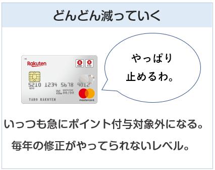 nanacoチャージでポイント付与のクレジットカードはどんどん減っていく